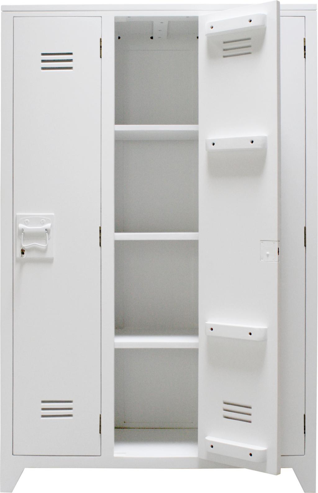 HK Living Spindschrank Locker Holz Weiß - Designwohnen.de